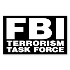 FBI Terrorism Task Force Rectangle Decal