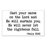Psalm 55:22 Rectangle Decal