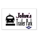 Jolene's Trailer Park Retro Rectangle Sticker
