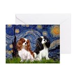 Starry Cavalier Pair Greeting Cards (Pk of 20)