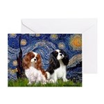 Starry Cavalier Pair Greeting Card