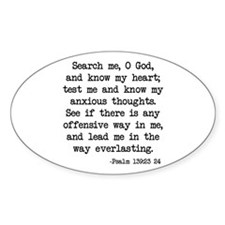 Psalm 139:23-24 Oval Decal