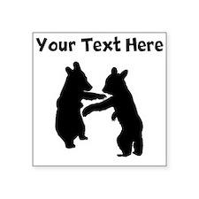 Bear Cubs Silhouette Sticker
