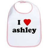 I Love ashley Bib