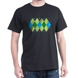 Green and Blue Argyle T-Shirt