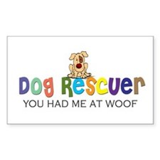 Dog Rescuer Rectangle Decal