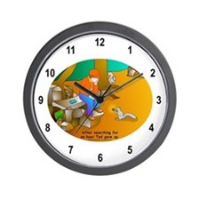 Geocaching Blues Wall Clock