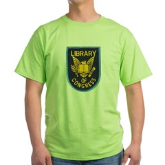 Library of Congress Green T-Shirt