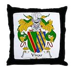 Vivar Family Crest Throw Pillow