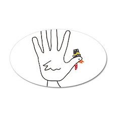 turkey hand Wall Decal