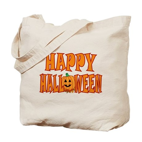 Pumpkin Happy Halloween Tote Bag