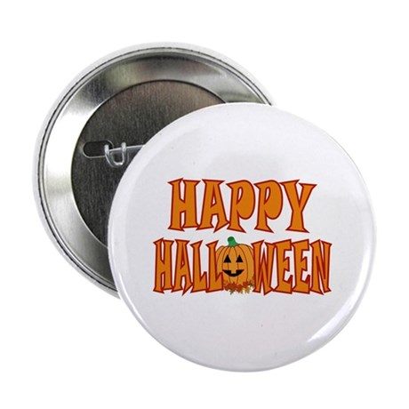 Pumpkin Happy Halloween Button
