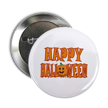 Pumpkin Happy Halloween 2.25&quot; Button (10 pack)