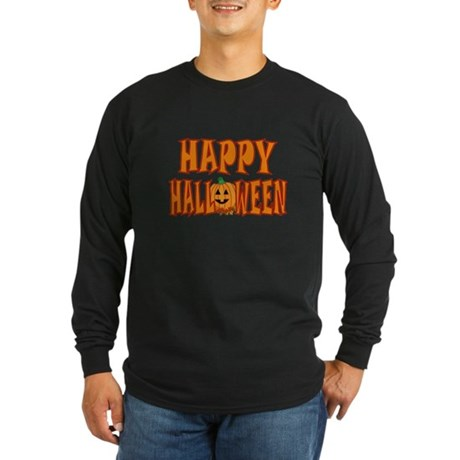 Pumpkin Happy Halloween Long Sleeve Dark T-Shirt