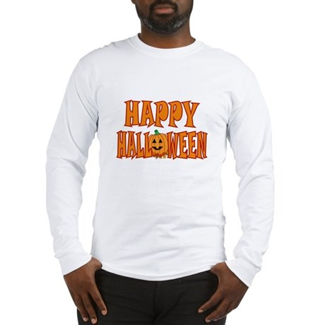 Pumpkin Happy Halloween Long Sleeve T-Shirt