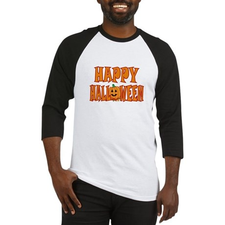 Pumpkin Happy Halloween Baseball Jersey