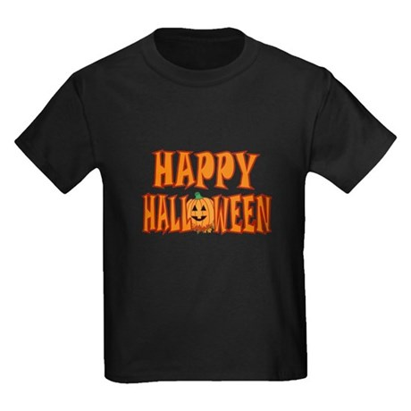 Pumpkin Happy Halloween Kids Dark T-Shirt
