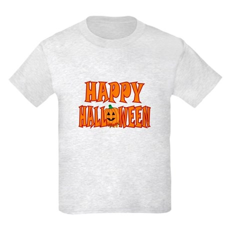 Pumpkin Happy Halloween Kids Light T-Shirt