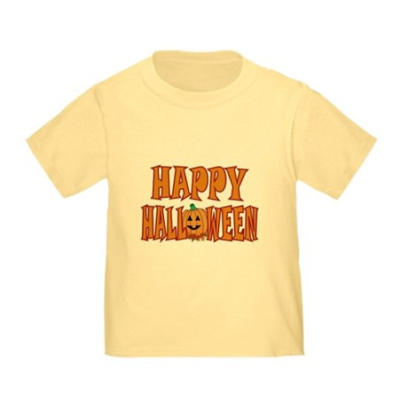 Pumpkin Happy Halloween Toddler T-Shirt