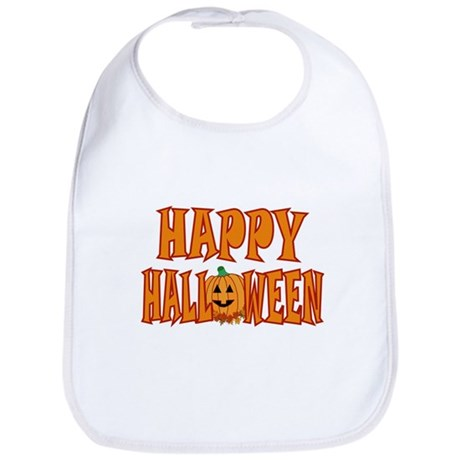 Pumpkin Happy Halloween Bib