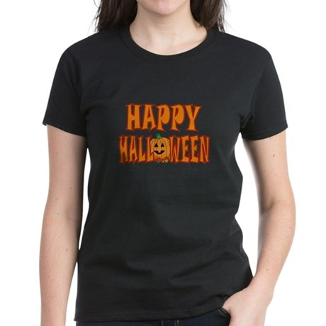 Pumpkin Happy Halloween Women's Dark T-Shirt