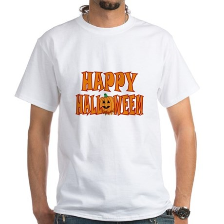 Pumpkin Happy Halloween White T-Shirt