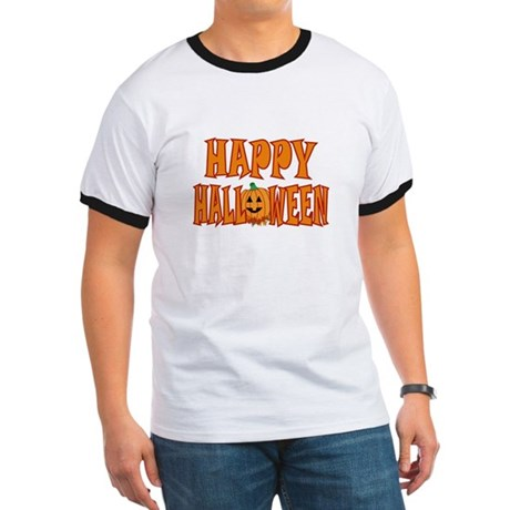 Pumpkin Happy Halloween Ringer T