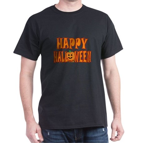 Pumpkin Happy Halloween Dark T-Shirt