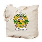 Vicente Family Crest Tote Bag