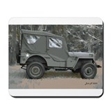 42 Ford GPW jeep in woods Mousepad