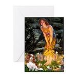 Fairies & Cavalier Greeting Card