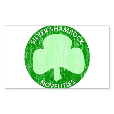 Silver Shamrock Rectangle Sticker