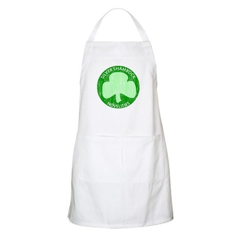 Silver Shamrock BBQ Apron