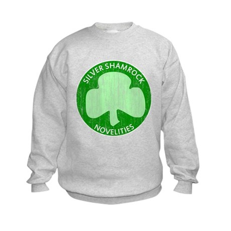 Silver Shamrock Kids Sweatshirt