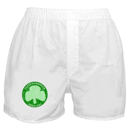 Silver Shamrock Boxer Shorts