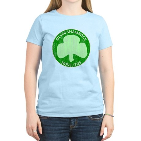 Silver Shamrock Womens Light T-Shirt