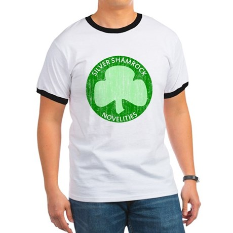 Silver Shamrock Ringer T