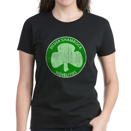 Silver Shamrock Womens T-Shirt