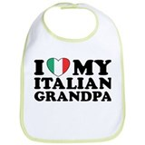 I Love My italian Grandpa Bib