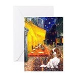 Cafe & Cavalier Greeting Card