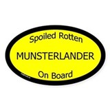 Spoiled Munsterlander On Board Oval Decal