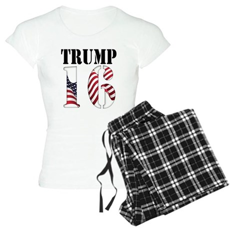 TRUMP 16 Red White Blue Pajamas