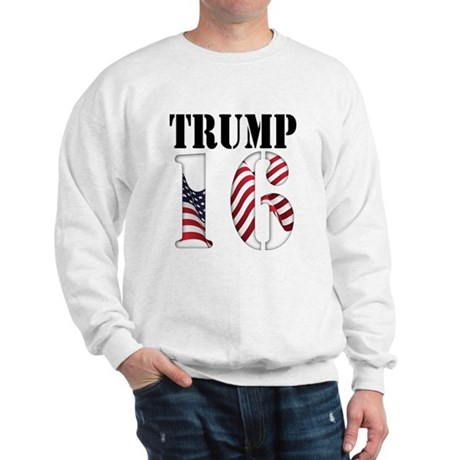 TRUMP 16 Red White Blue Sweatshirt