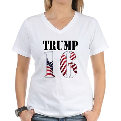TRUMP 16 Red White Blue T-Shirt