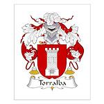 Torralba Family Crest Small Poster