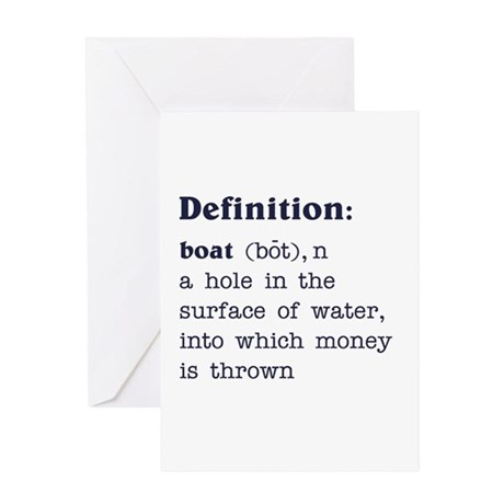 Boat Definition Greeting Card