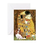 The Kiss & Cavalier Greeting Card
