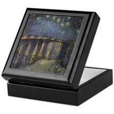 Starry Night Over The Rhone Keepsake Box