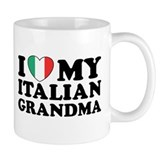 I Love My italian Grandma Small Mug