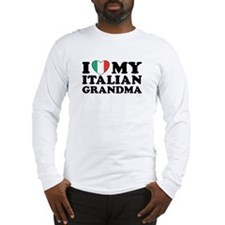 I Love My italian Grandma Long Sleeve T-Shirt